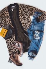 Leopard Open Cardi