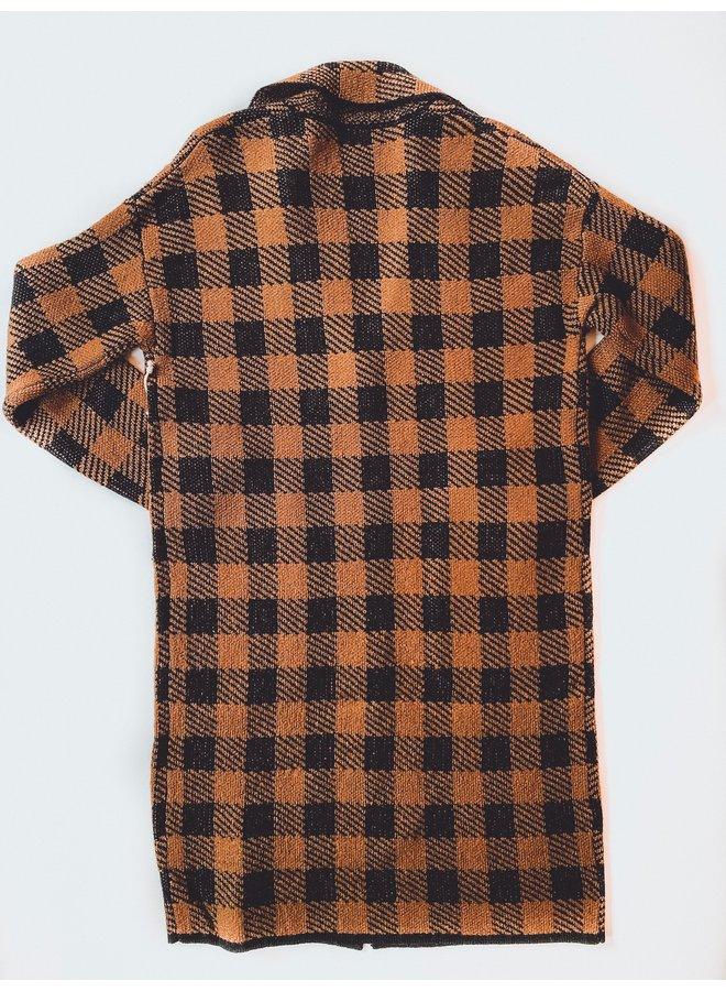 Button Buffalo Check Sweater