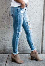 Kancan Sharon-Becky Distressed Skinny