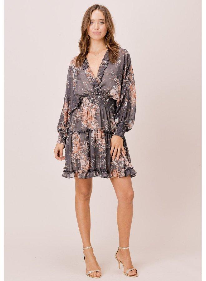 Smocked Waist Ruffle Dress