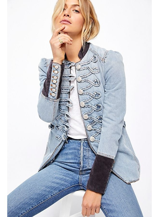 Denim Seamed and Structured Jacket