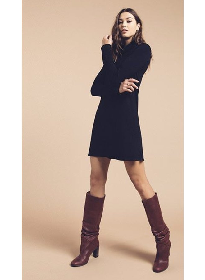 Sweater Knit Turtle Neck Dress