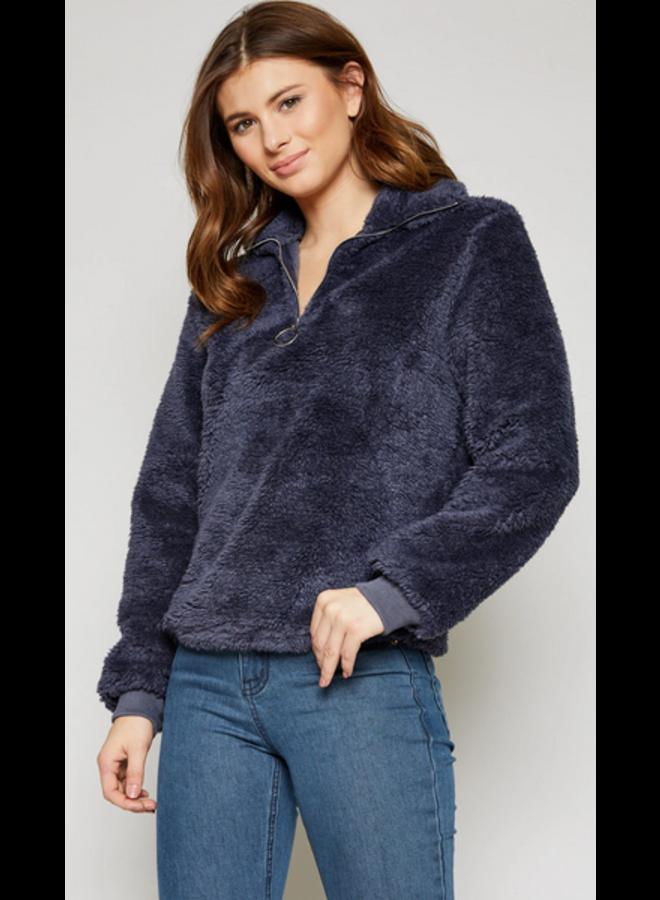 Marshmellow Zip Pullover