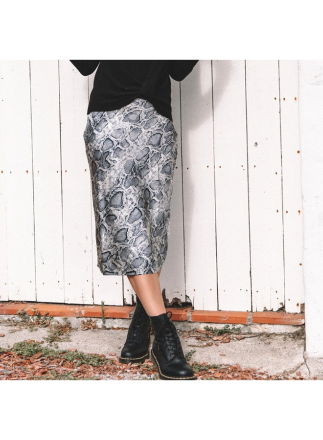 Printed Bias Skirt