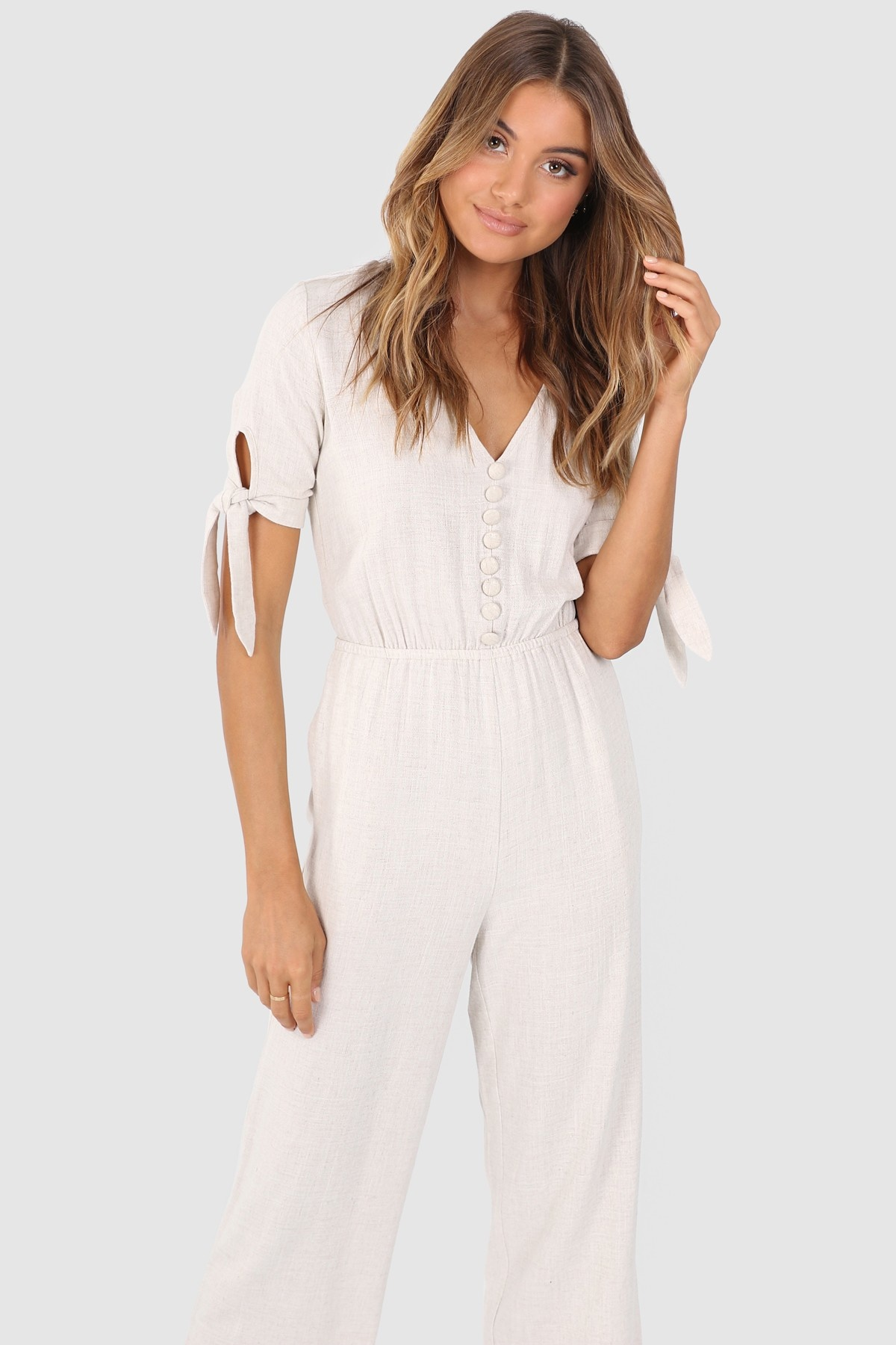 Emerge Linen Jumpsuit Online | Shop EziBuy