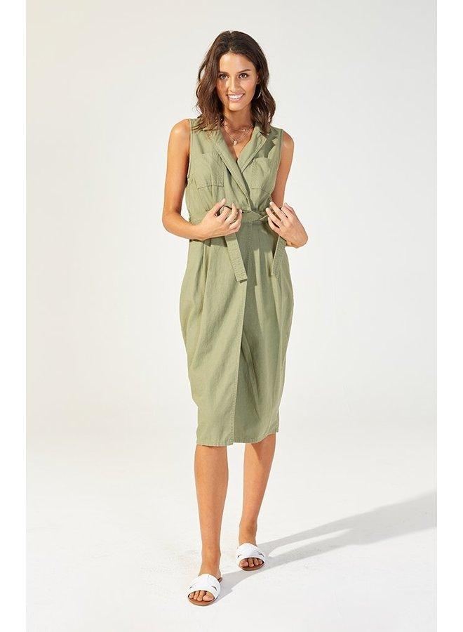 Alena Midi Wrap Dress