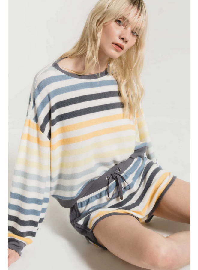 Rainbow Stripe Short