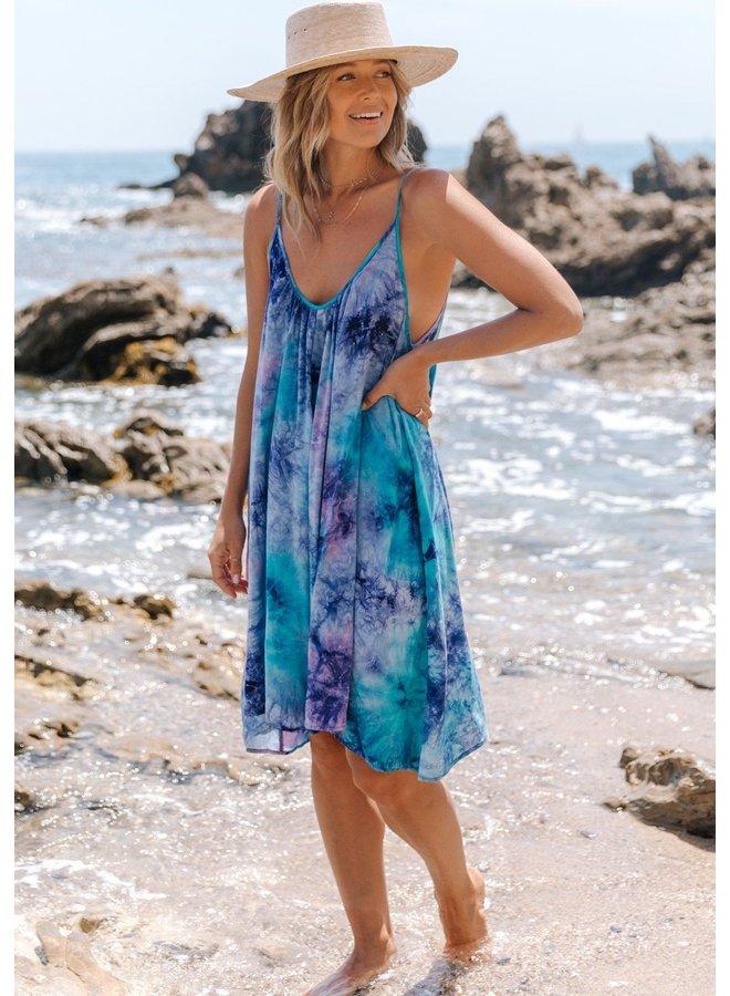 Tie Dye Plunge Summer Dress