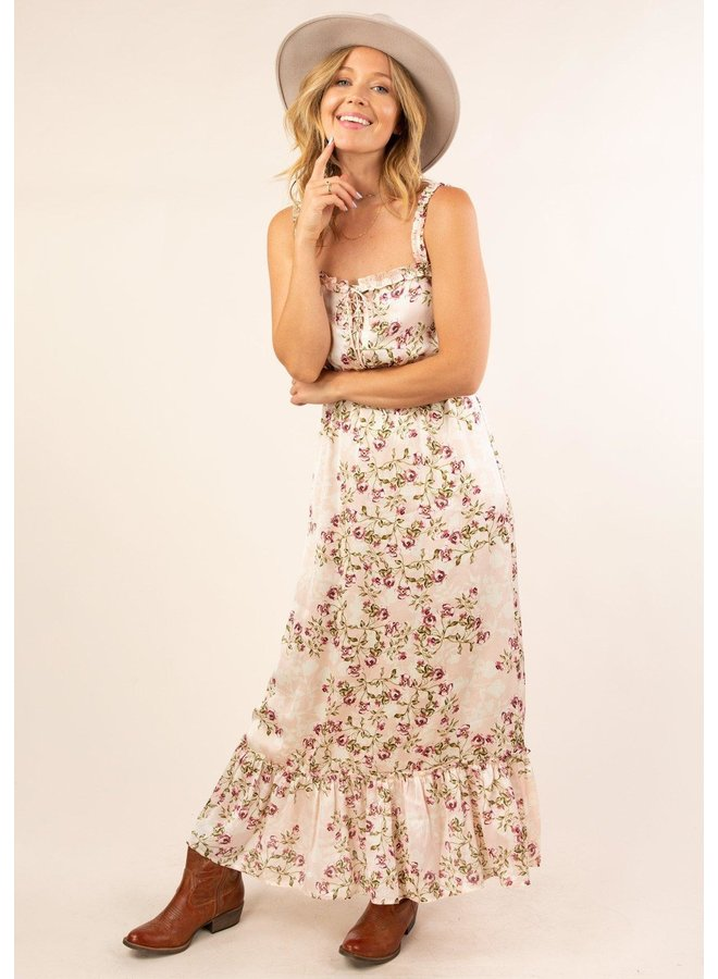 Lace Up Front Maxi