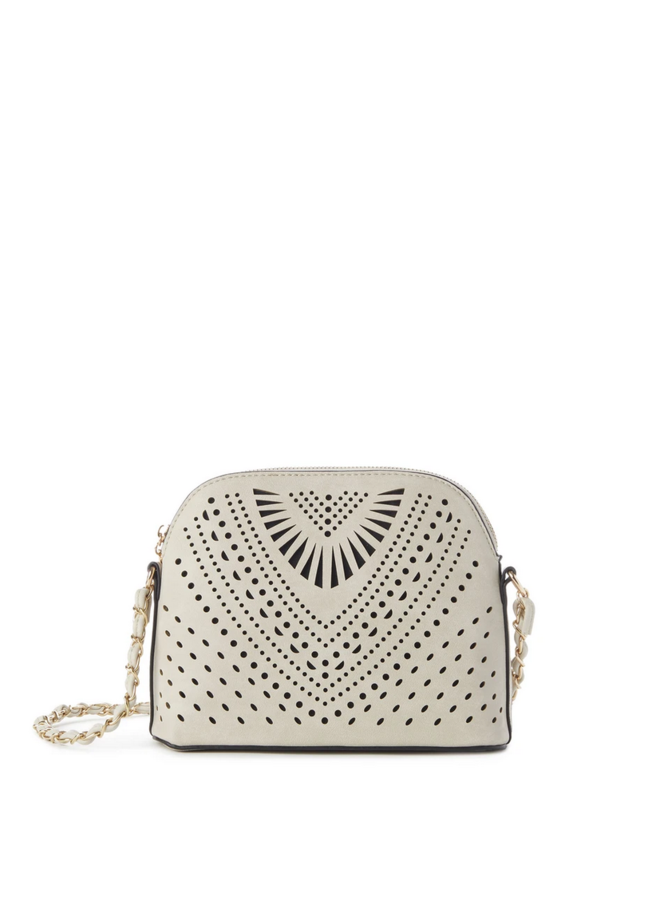 Heather Perforated Crossbody