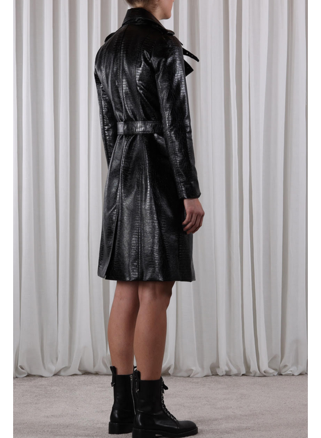 Janoe Faux Leather Trench