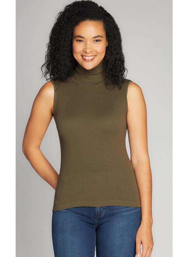 Seamless Rib S/Less TN Top