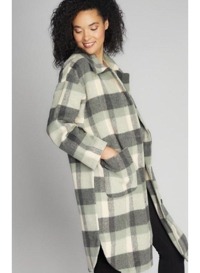 Long Plaid One Size Coat