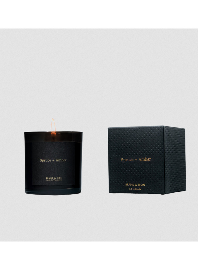 Spruce & Amber Soy Candle