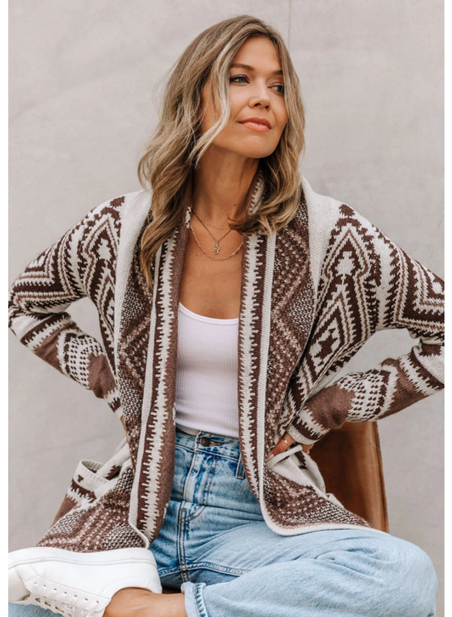 Southwest Shawl Cardigan