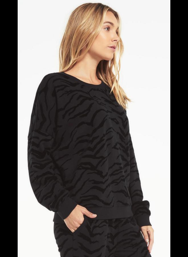 Tiger Flocked Sweatshirt