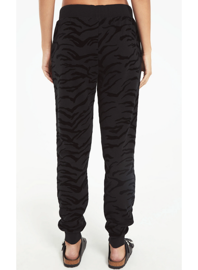 Tiger Flocked Jogger