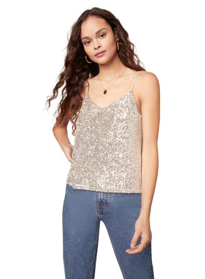 Hide and Sequin Top