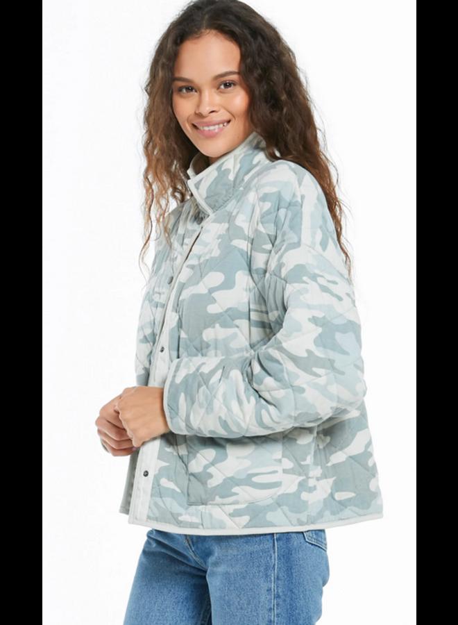 Maya Camo Quilted Coat