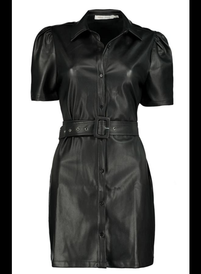 Morgan Faux Leather Dress