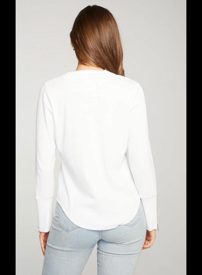 Mock Neck Zip Shirt