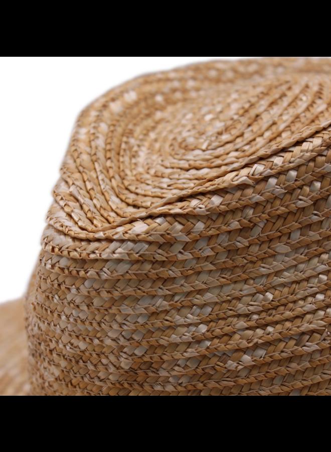 Rhea Wheat Braid Fedora