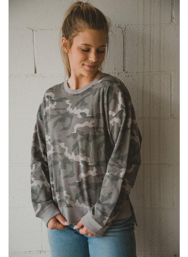 Oversized Camo Pullover