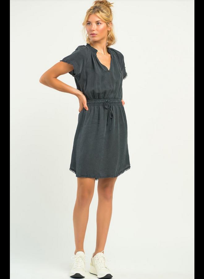Frayed Hem Dress