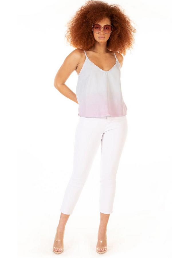 Ombre Frayed Edge Cami