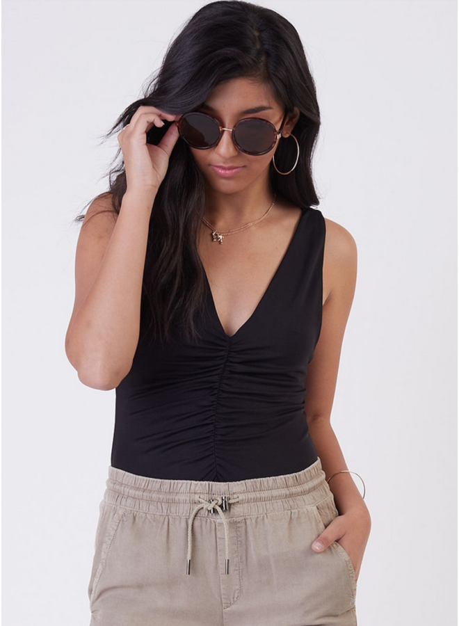 Ruched Front Bodysuit