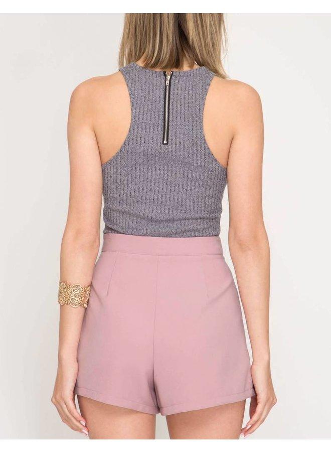 Pintuck Shorts