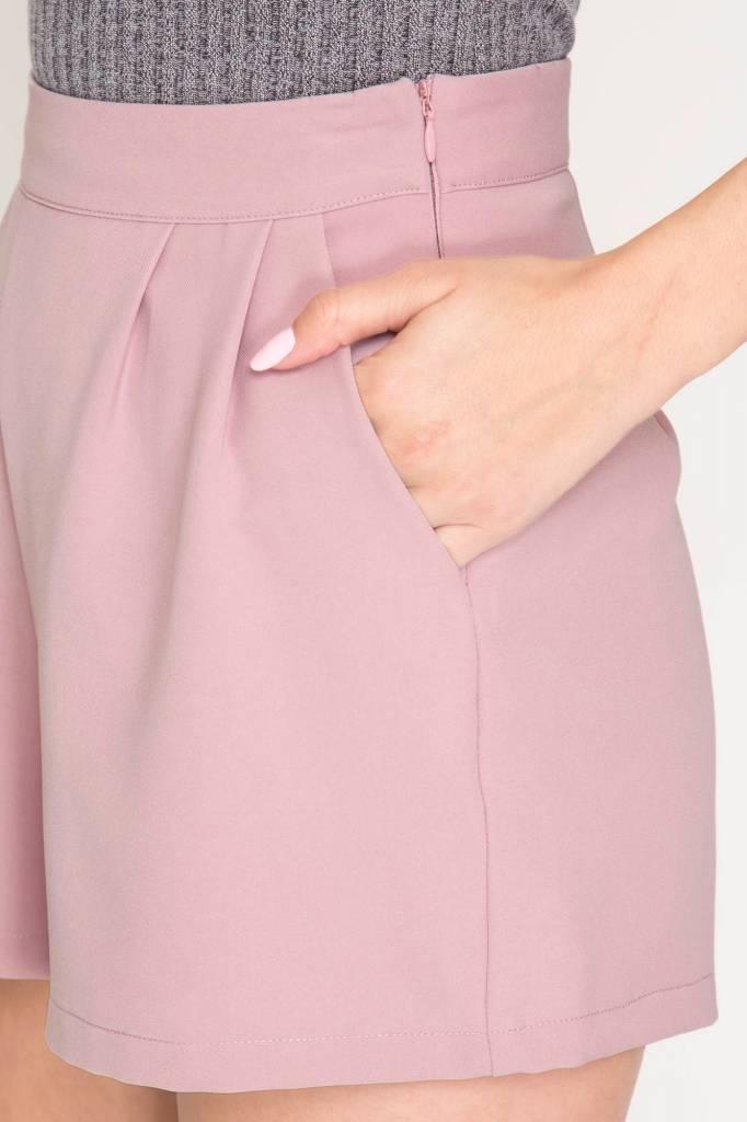 She + Sky Pintuck Shorts