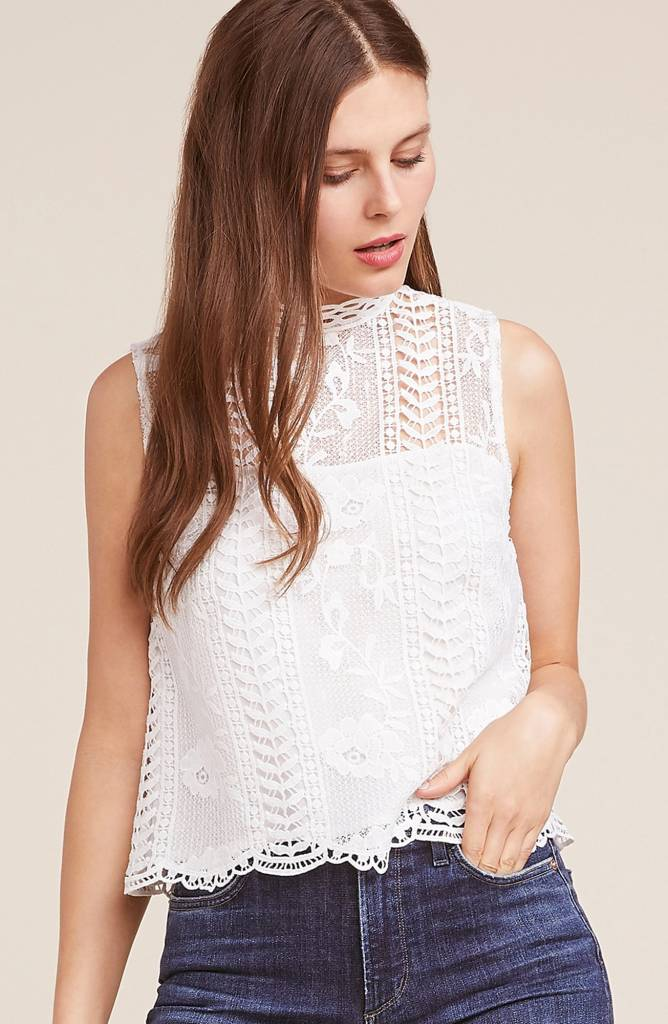 9b6dfd2c7b07 Mulholland Lace Top - White Bull Clothing Co