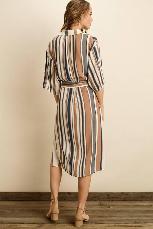 Dress Forum DF Stripe Midi Dress
