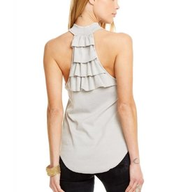 Chaser Ruffle Back Mock Neck