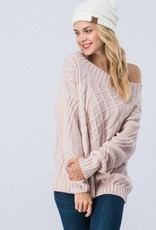 Mauve Off Shoulder Sweater