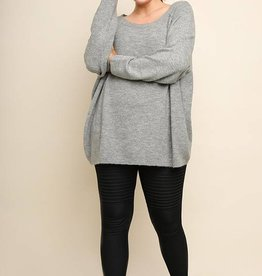 Heather Grey Knit Tunic