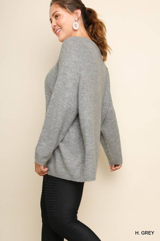 Heather Grey Knit Tunic