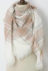 Blush/Cream Blanket Scarf