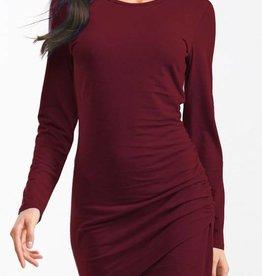 Burgundy LS Cross Dress