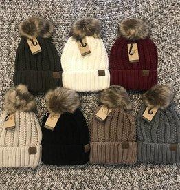 CC Fur Pom Beanie