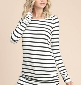 Ivory/Black Striped Tunic
