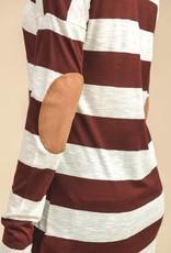 Burgundy Striped Top