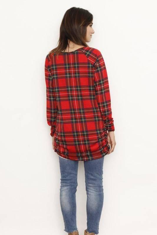 Red Plaid Tunic