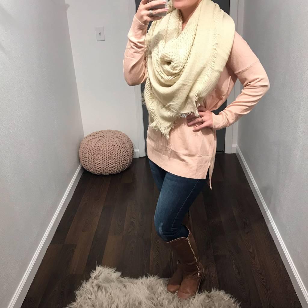 Mauve Soft Knit Sweater