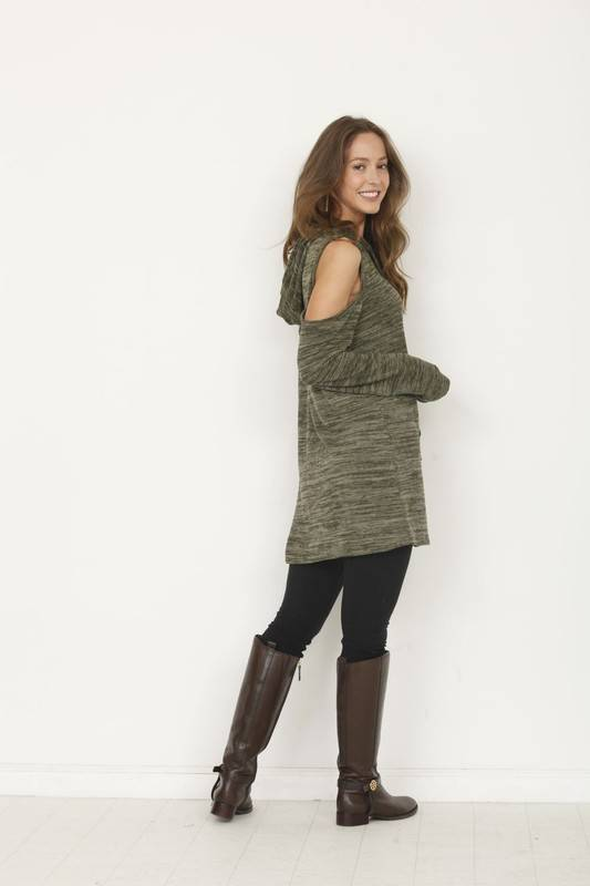 Olive Cold Shoulder Tunic