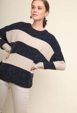 Navy/Cream Sweater