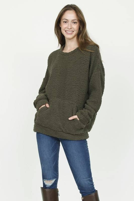 Olive Cozy Pullover
