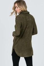 Olive/Camel Trim Tunic