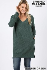 Hunter Green Soft Knit Tunic